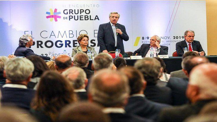 Alberto Fernández inauguró reunión del Grupo de Puebla: Vamos a cambiar América Latina