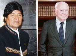 Evo Morales y Jesús de Polanco.