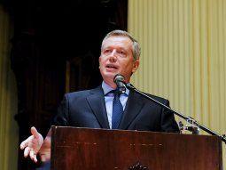 Emilio Monzó brindó un discurso en el salón de los Pasos Perdidos.