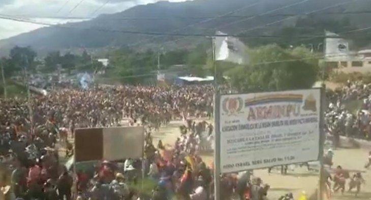 Represión a cocaleros en Sacaba