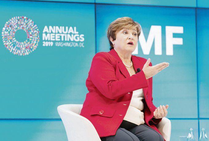 MENSAJE. Kristalina Georgieva destacó la importancia que tiene la Argentina -principal deudor- para el FMI.