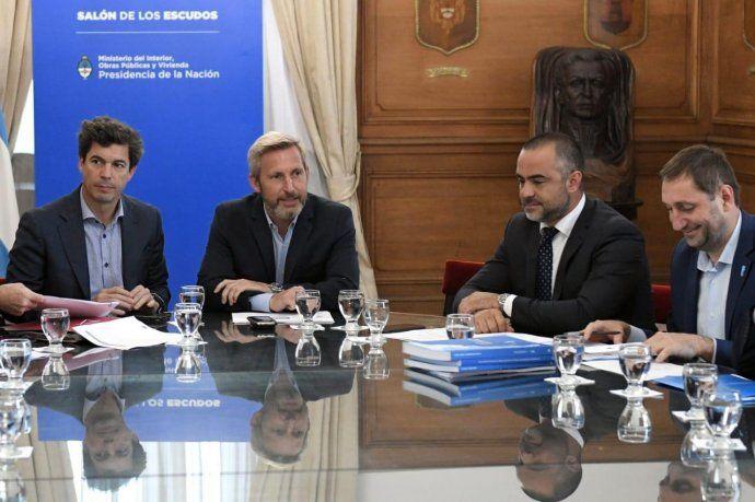 Pablo Bereciartua, secretario de Recursos Hídricos, en un encuentro donde participó el ministro del interior Rogelio Frigerio