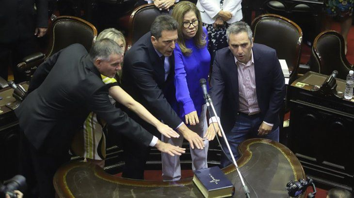 Sergio Massa será presidente de la Cámara de Diputados.
