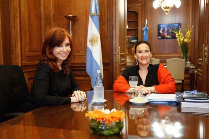 Cristina y Michetti se reunieron en el despacho de la vicepresidente en el Congreso.