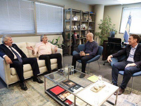Alberto Fernández se reunió con Larreta y Santilli | Alberto ...