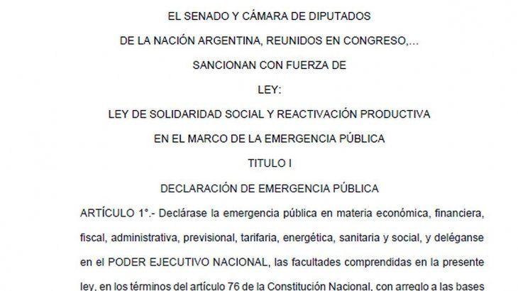 Ley de Solidaridad: eliminan artículo que permitía reforma del Estado