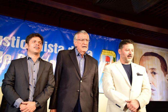 Axel Kicillof, José Luis Gioja y Gustavo Menéndez.