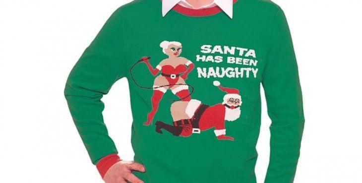 También lanzaron a la venta sweaters de Papá Noel en sugerentes poses sexuales.