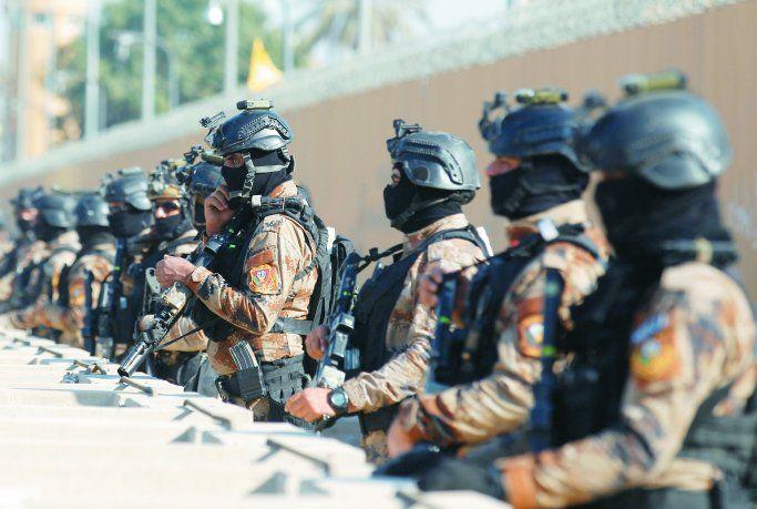 Despliegue. El Gobierno de Irak desplegó ayer unidades de élite