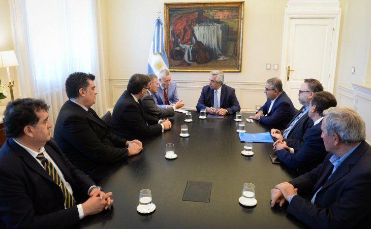 El Presidente también recibió al gobernador catamarqueño Jalil y a representantes de otra minera canadiense.