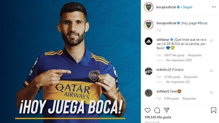 El posteo d eboca con el mensaje de Adidas que generó polémica.