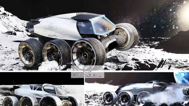 Lexus presentó 7 prototipos de vehículos lunares.