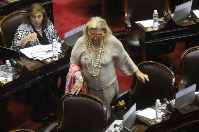 La diputada de la Coalición Cívica ARI, Elisa Carrió.