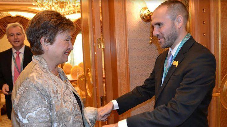 Encuentro en Riad. El ministro de Economía, Martín Guzmán, se vio cara a cara con la directora del FMI, Kristalina Georgieva.