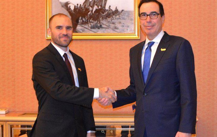 Guzmán y Mnuchin mantuvieron un encuentro en Riad.