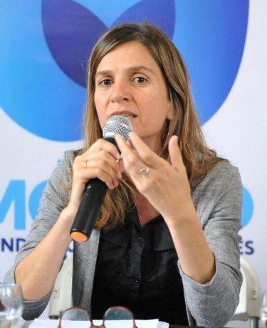 La titular de ANSES, Fernanda Raverta.