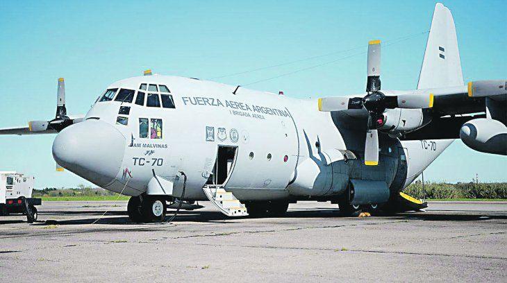 Mision. Avión Hércules C 130. Volarán hasta Guayaquil para repatriar argentinos desde ese pais.