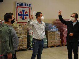 Sergio Ortiz, del Sindicato de Comercio, promovió la colecta solidaria, que contó con el apoyo de Sebastián Maturano, líder de la Juventud Sindical de la CGT.