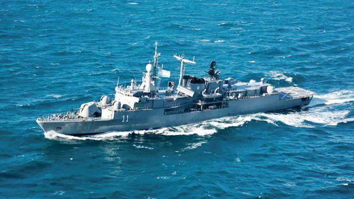 Refuerzo. La Armada envió al limite de la milla 200 el destructor ARA La Argentina para patrullar.