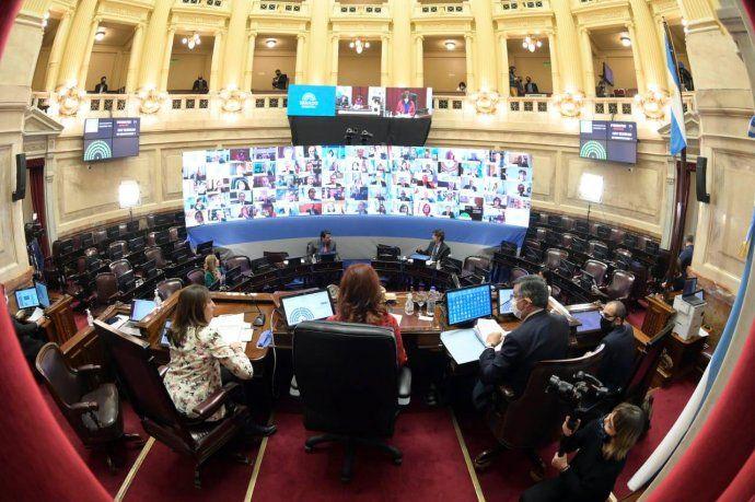 El Senado de la Nación lleva a cabo su primera sesión remota, a raíz del coronavirus.