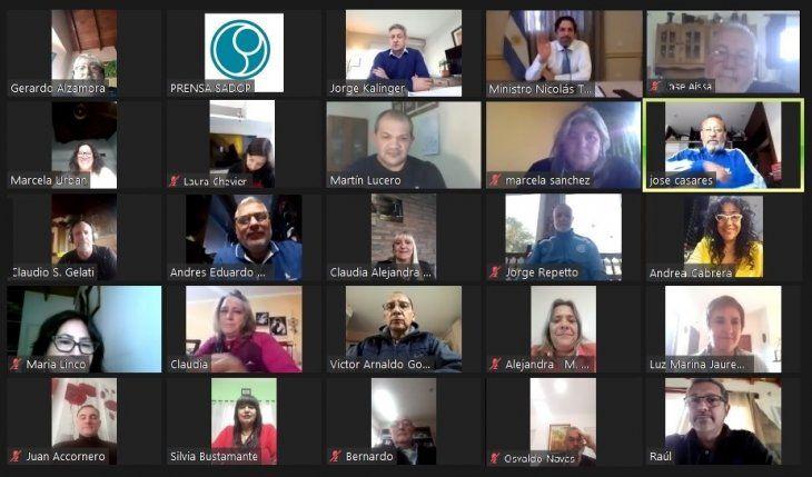 Videoconferencia de Trotta con los docentes privados.