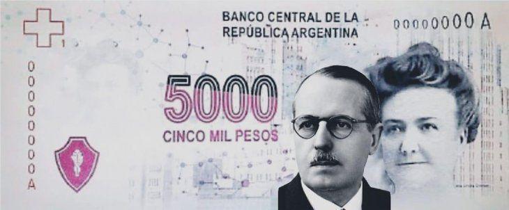 El billete de $5.000 propuesto por la UCR.