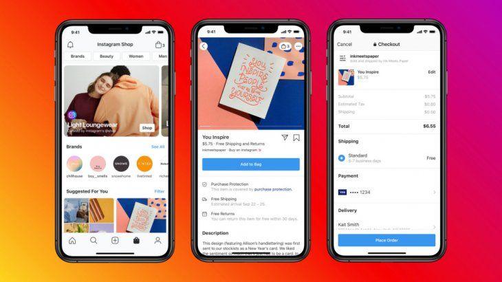 Facebook lanzó el nuevo servicio, Shops.