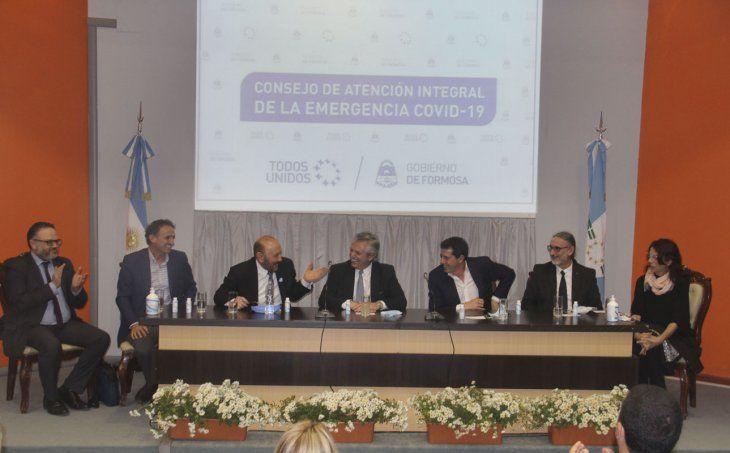 El presidente Alberto Fernández encabezó una conferencia de prensa con medios de comunicación formoseños.