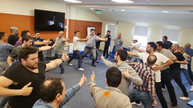 Una de las actividades (Mindfulness) organizadas para el equipo de brigadistas de PAE.