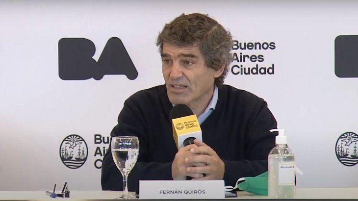 El ministro de Salud porteño, Fernán Quirós, celebró un amesetamiento en la curva de contagios de coronavirus en la Ciudad de Buenos Aires.