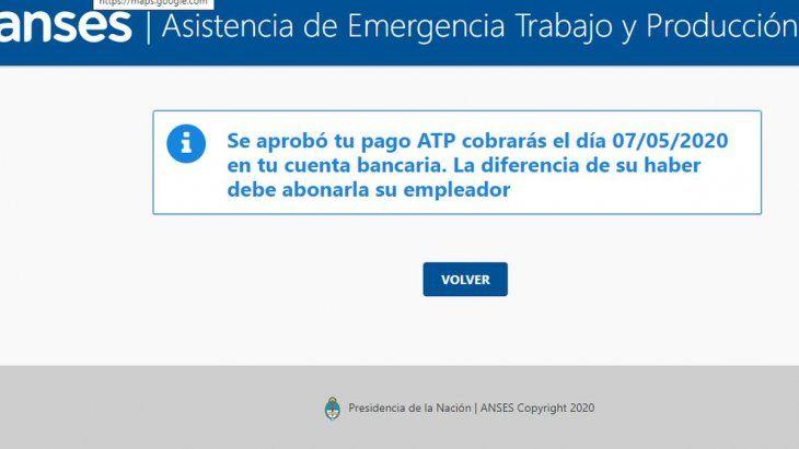 ATP: en los próximos días se podrá consultar cuándo te deposita ANSES