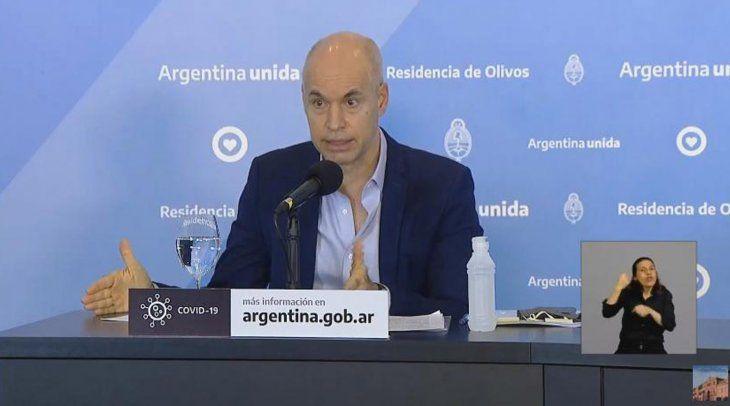 El Jefe de Gobierno de la Ciudad de Buenos Aires, Horacio Rodríguez Larreta.