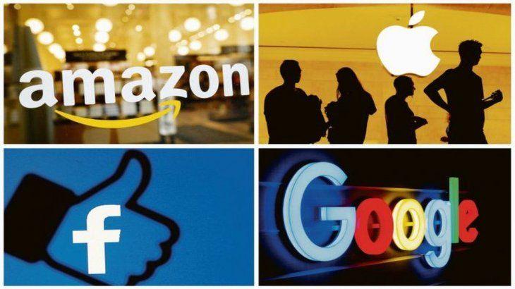 Se investiga si Facebook, Amazon, Google y Apple abusan de su posición dominante en el mercado.