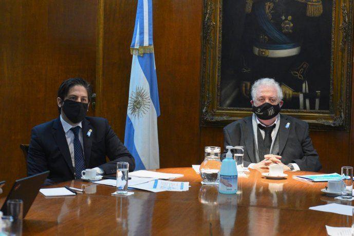 Los ministros Nicolás Trotta (Salud) y Ginés Gonzáles García (Educación)