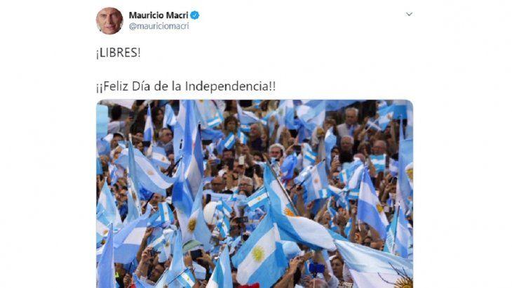 ¡Libres!, el mensaje de Macri