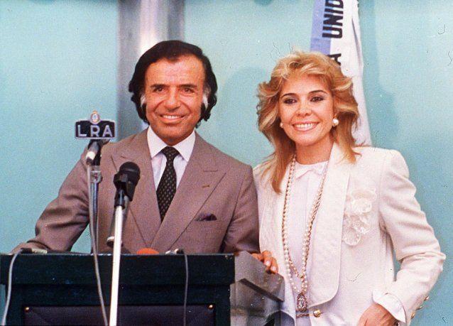 Carlos Menem y Zulema Yoma en tiempos en que estaban casados