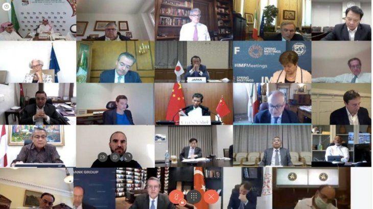 En plena pandemia, ministros de Finanzas del G20 debaten sobre la reactivación económica