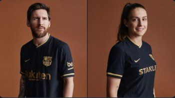 Barcelona publicitó sus nuevas camisetas negras