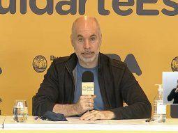 Lo más importante es que cada uno asuma la responsabilidad de cuidarse, dijo Rodríguez Larreta.
