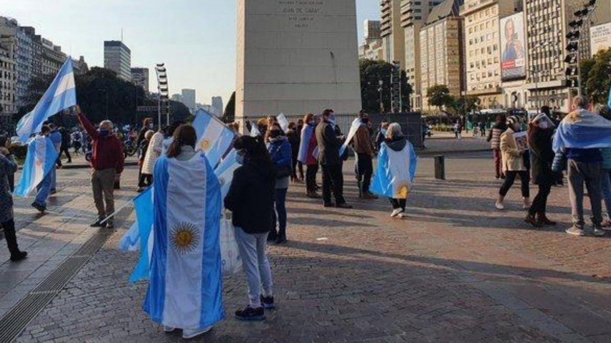 Marcharon contra la reforma judicial en el Obelisco  | Justicia, Alberto Fernández, Ciudad de Buenos Aires