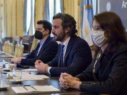 Cafiero estuvo acompaado durante la presentacin por los ministros del InteriorEduardo de Pedroy de Desarrollo Territorial y HbitatMara Eugenia Bielsa
