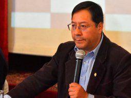 El candidato presidencial del MAS, Luis Arce.