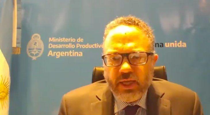 El ministro de Desarrollo Productivo, Matías Kulfas, al exponer en el Council de las Américas.