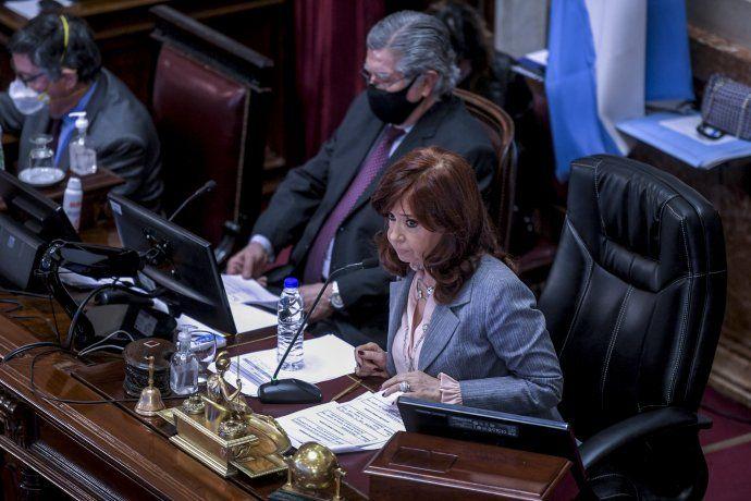 Cristina Fernández de Kirchner durante la sesión especial.