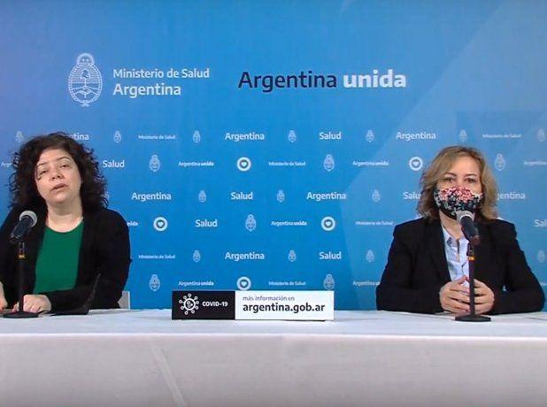 La Secretaria de Acceso a la Salud, Carla Vizzotti, encabezando el informe diario sobre el estado de situación del coronavirus.