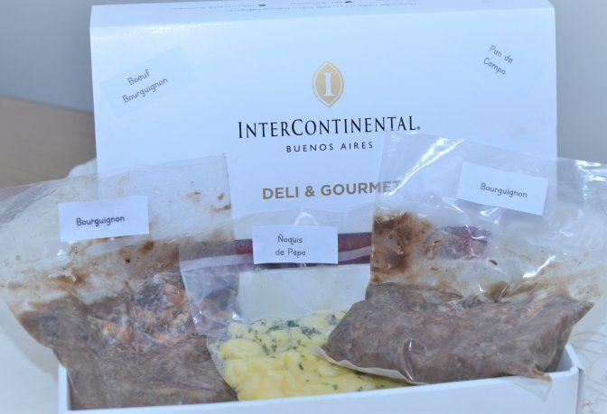 En el Hotel Intercontinental Buenos Aires su Chef Ejecutivo Bertrand Eginard desarrolló Box Gourmet.