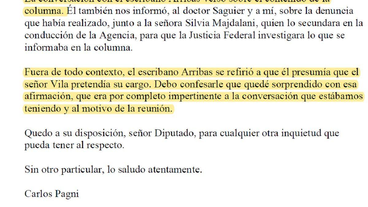 Declaración de Pagni expuso a Arribas y su interna en la AFI con Vila