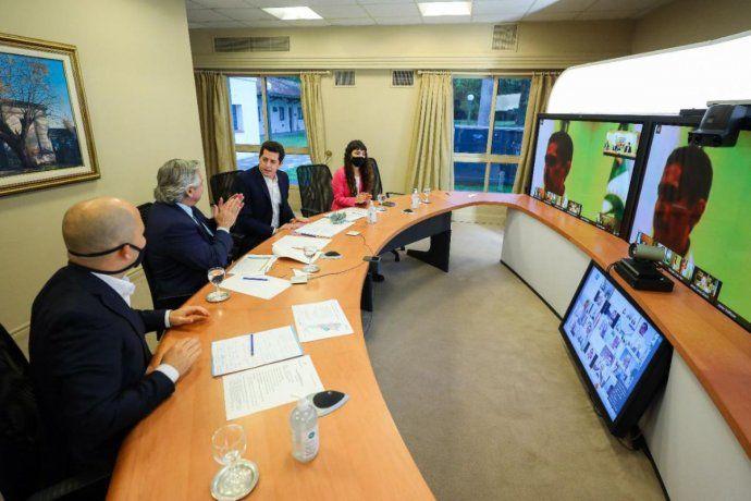 Alberto Fernández lanzó Municipios de Pie a través de una videoconferencia.