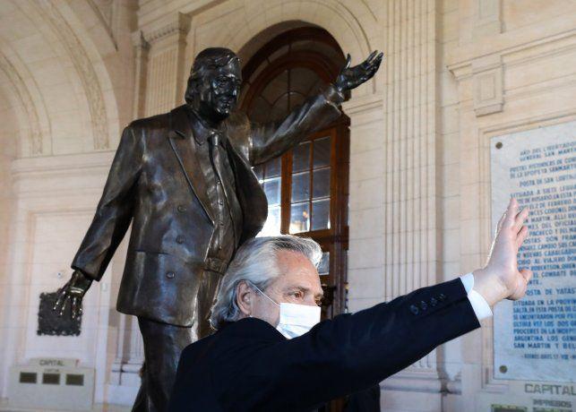 El presidente Alberto Fernández homenajeó a Néstor Kirchner en el CCK.