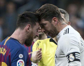 La violenta jugada de Ramos y la reacción de Messi: Sos un mala leche